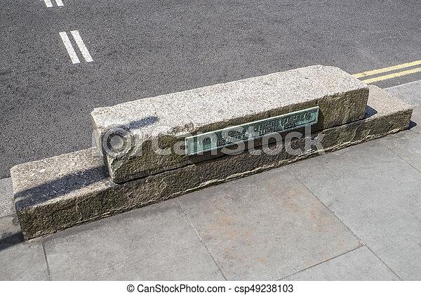 Duke of Wellington Horse-Block in London - csp49238103