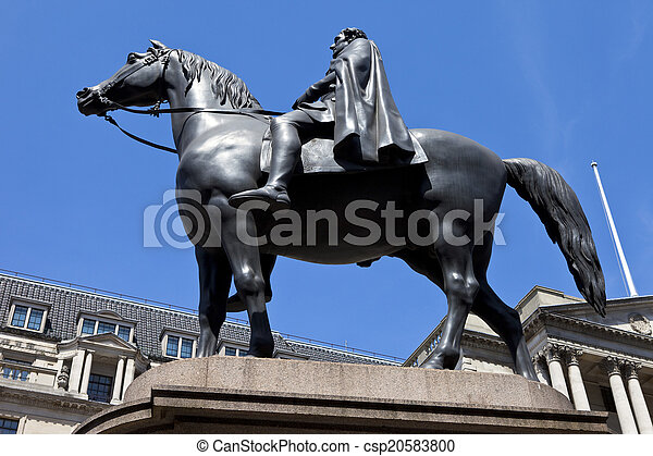 Duke of Wellington Statue in London - csp20583800