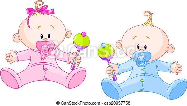Dulces gemelos - csp20957758