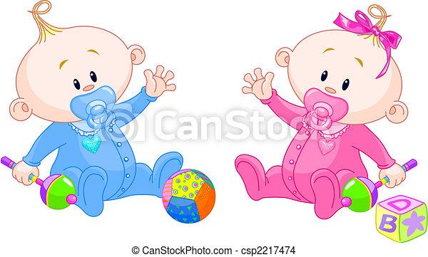 dulce, gemelos - csp2217474