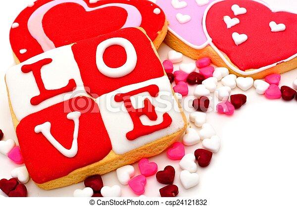 dulces, día de valentines - csp24121832