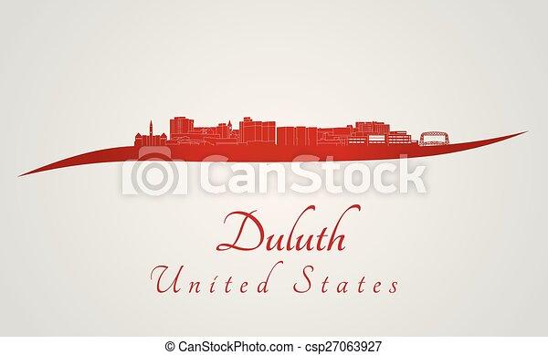 Duluth skyline in red - csp27063927