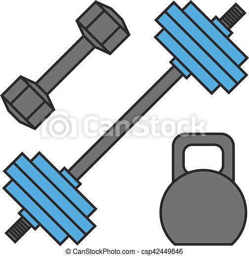Dumbbell Exercise Weights Gym Fitness Equipment Vector Eps Rh Canstockphoto Com Clipart