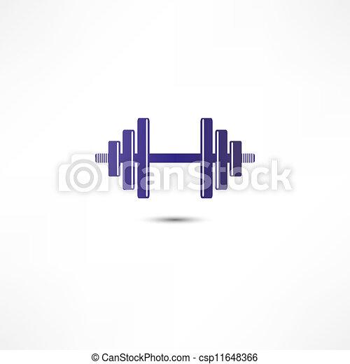 Dumbbell icon - csp11648366