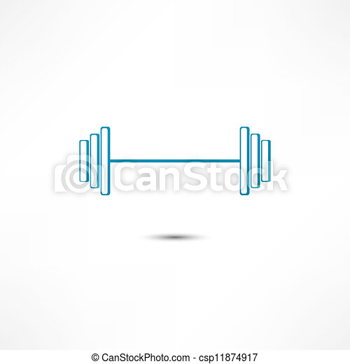 Dumbbell icon - csp11874917