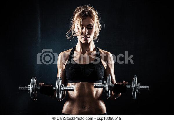 dumbbells, фитнес - csp18090519