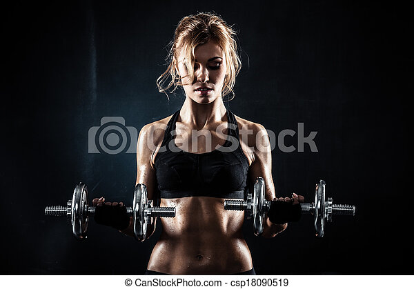 dumbbells, fitness - csp18090519