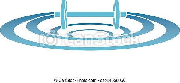 Dumbell Ripples - csp24658060