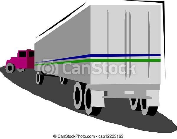 Dump truck - csp12223163