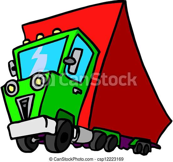 Dump truck - csp12223169