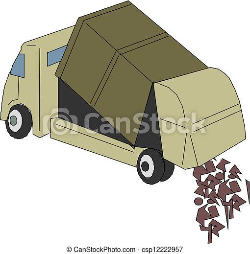 Dump truck - csp12222957