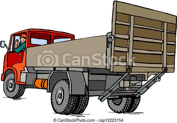 Dump truck - csp12223154