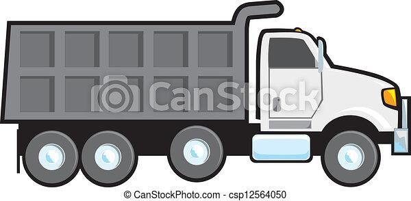 dump truck a typical plain white blank american dump truck rh canstockphoto com dump truck clip art images dump truck clipart images free