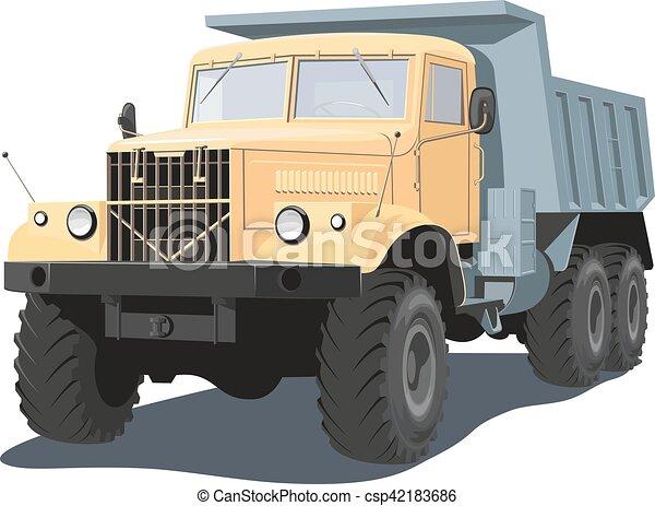 Dump truck - csp42183686