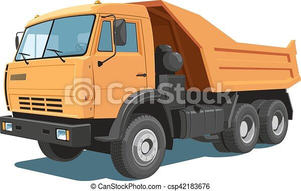 Dump truck - csp42183676