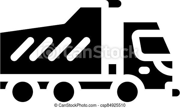 dumper truck glyph icon vector isolated illustration - csp84925510