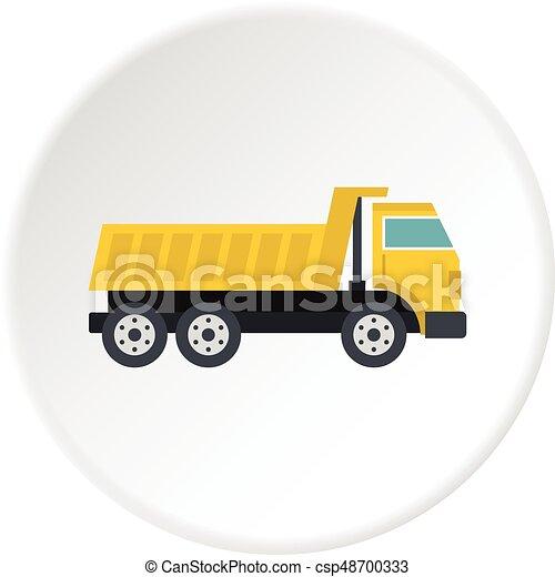 Dumper truck icon circle - csp48700333