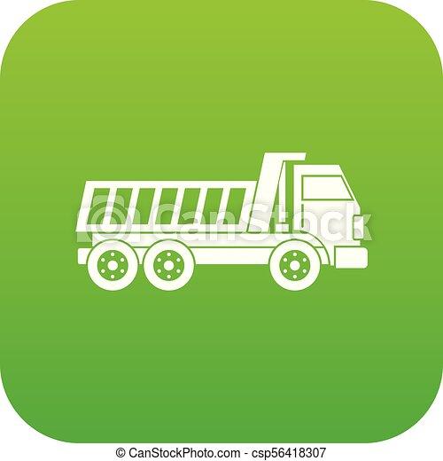 Dumper truck icon digital green - csp56418307