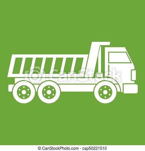 Dumper truck icon green - csp50221510