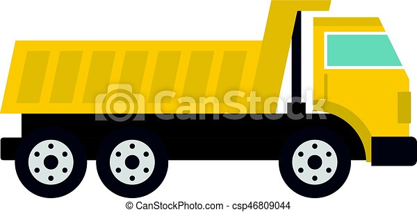 Dumper truck icon isolated - csp46809044