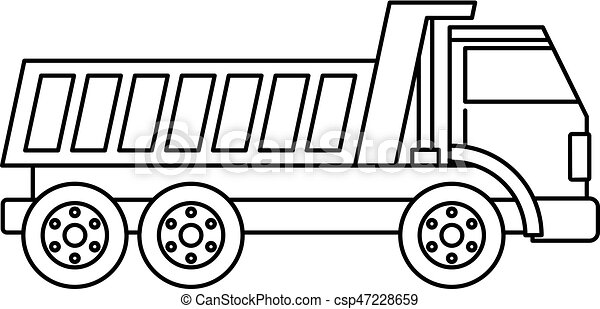Dumper truck icon outline - csp47228659