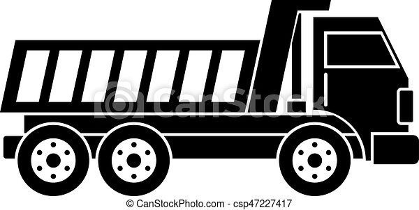 Dumper truck icon simple - csp47227417