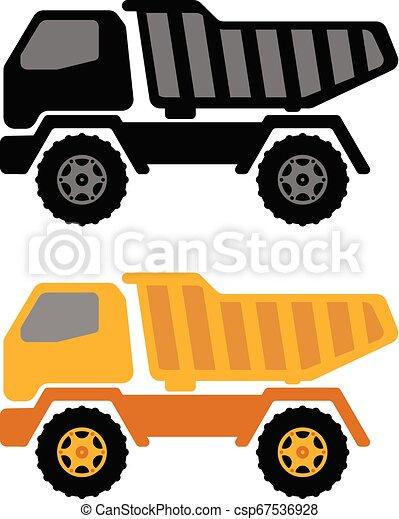 dumper truck illustration - csp67536928