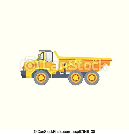dumper truck illustration side view - csp67646130