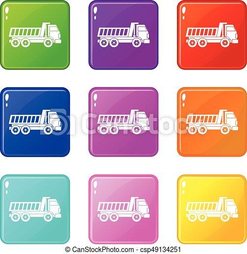 Dumper truck set 9 - csp49134251