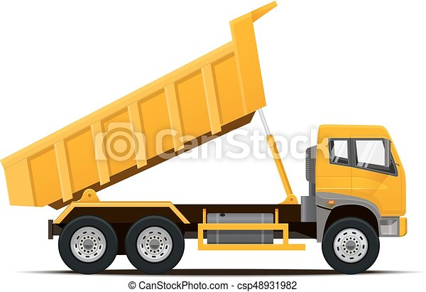 Dumper Truck. Vector illustration. - csp48931982