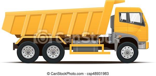 Dumper Truck. Vector illustration. - csp48931983