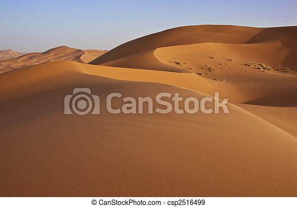 dunas, arena, desierto de sahara - csp2516499