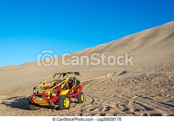 Dune Buggy in Huacachina, Peru - csp26838178