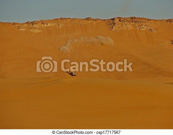 Dune Buggy Races Across Desert - csp17717567