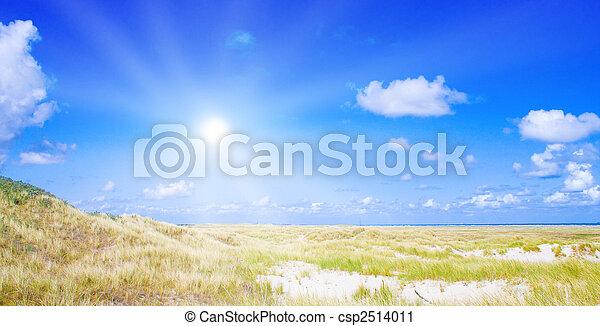 dune, idilliaco, luce sole - csp2514011