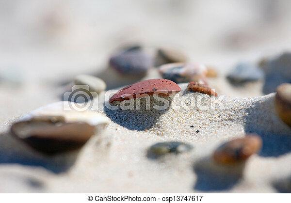 Dune on Beach at Sunset - csp13747617