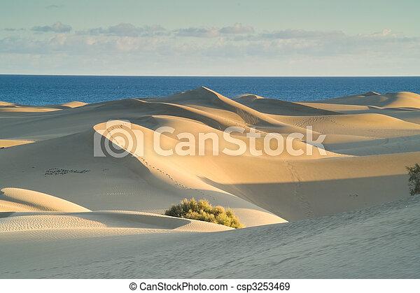 Dunes at sunset - csp3253469