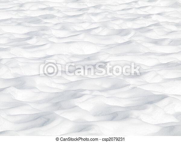 dunes, neige - csp2079231