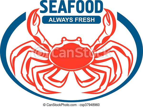 dungeness crab badge design with header seafood dungeness clip rh canstockphoto com seafood clipart free seafood clipart images