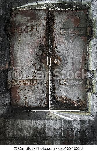 Dungeon Door - csp13946238 & Dungeon door. An old rustiong cast iron dungeon door letting in ...