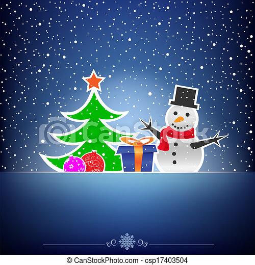 Dunkel blau, weihnachtskarte, schnee. Blaues, weihnachten ...