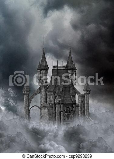 Dunkles Schloss - csp9293239