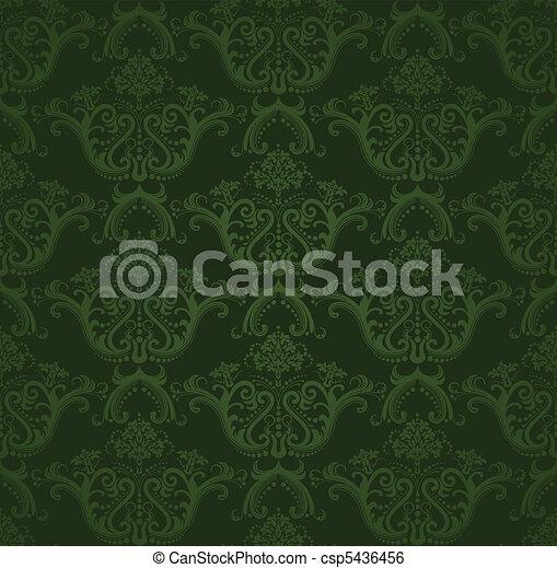 Dunkel Tapete Grun Blumen Wallpaper Illustration Dieser