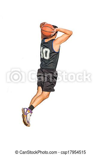 dunking on white background - csp17954515