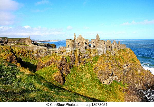 Dunluce Castle, Northern Ireland  - csp13973054