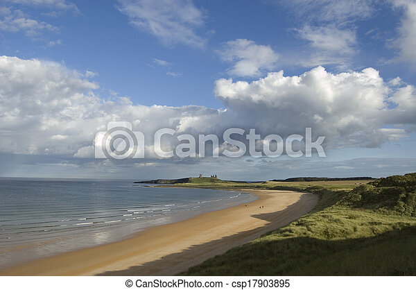 Dunstanburgh and Embleton Bay - csp17903895