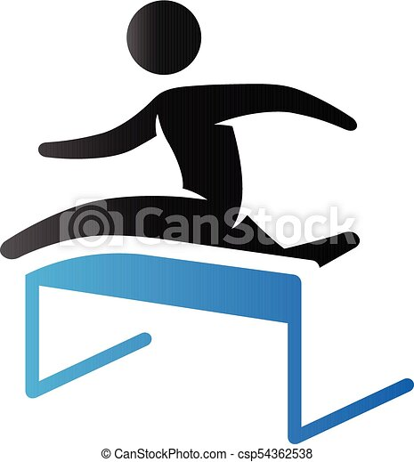 duo tone icon hurdle run hurdle run icon in duo tone vectors rh canstockphoto ca hurdle race clipart hurdle clipart free