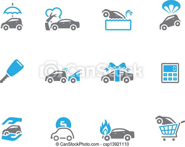 Duo Tone Icons - Auto Insurance - csp13921110