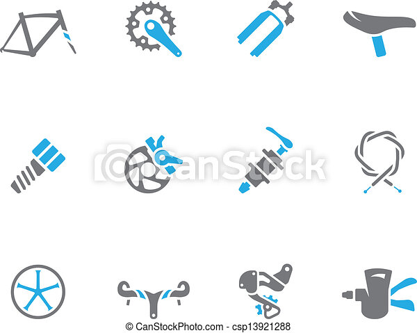 Duo Tone Icons - Bicycle Parts - csp13921288