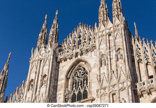 Duomo Cathedral of Milan Italy - csp39087271